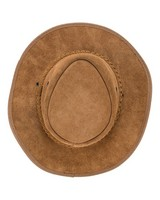 Oryx Suede Leather Hat -  brown
