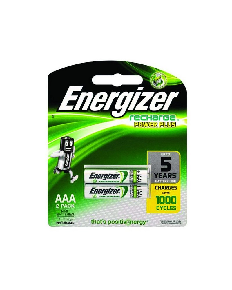 Energizer AAA Rechargeable Batteries (2 Pack) -  nocolour