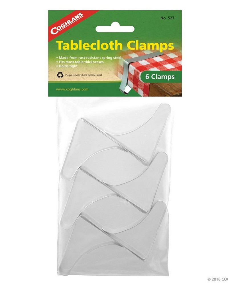Coghlans Tablecloth Clamps -  silver