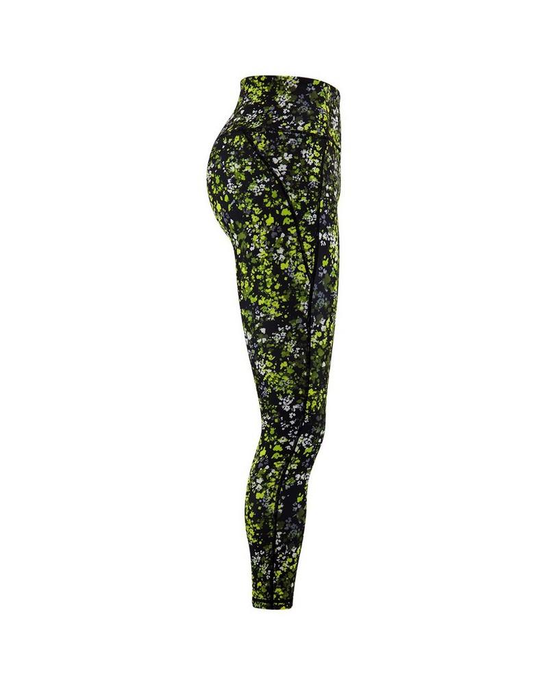 Rare Earth Women's Logan Black and Yellow Printed Leggings -  black