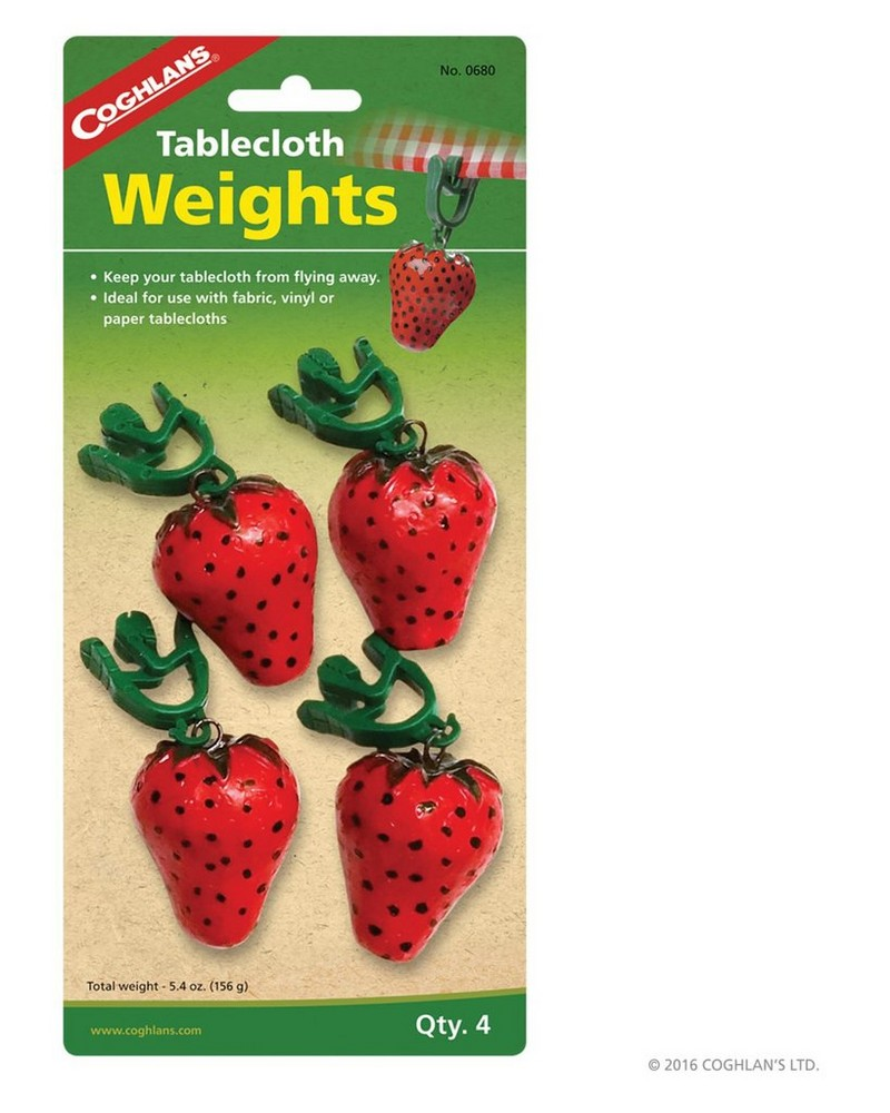 Coghlans Tablecloth Weights -  red