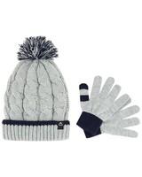 K-Way Ember Beanie and Glove Set -  blue