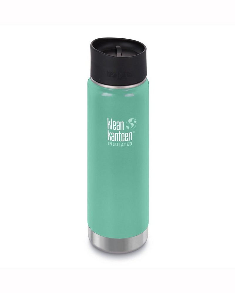 Klean Kanteen Wide Vacuum Insulated Bottle 20oz -  green