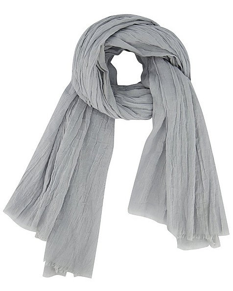 Talis Crushed Cotton Scarf -  grey