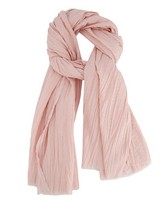 Talis Crushed Cotton Scarf -  pink
