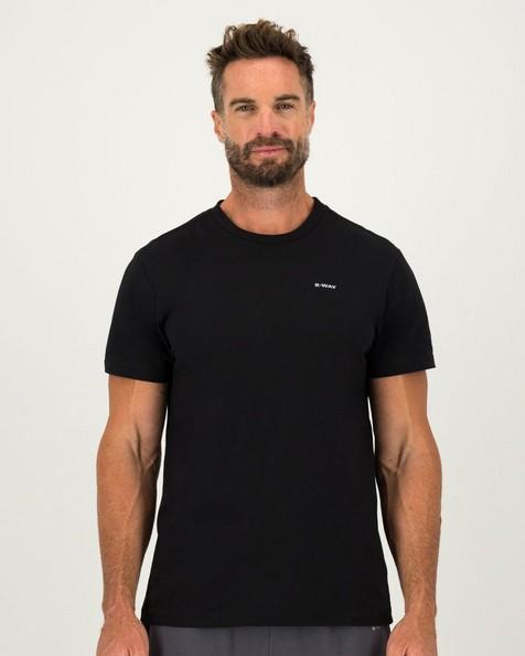 K-Way Elements Men's Short Sleeve Tee -  black