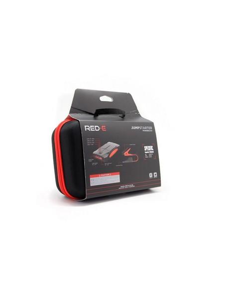 Red-E Car Jump Starter Power Bank -  black