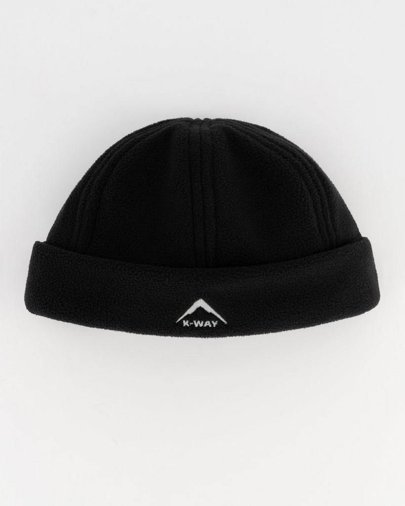 K-Way Men's Eco Fleece Beanie -  black