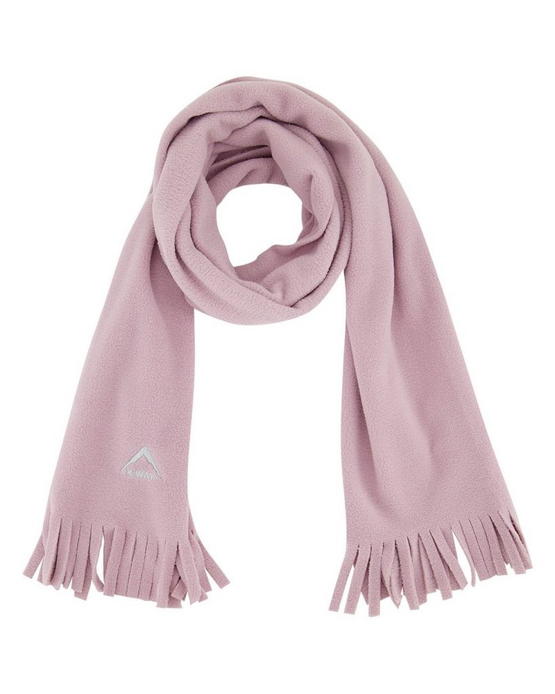 K-Way Men's Eco Fleece Scarf -  dusty-pink