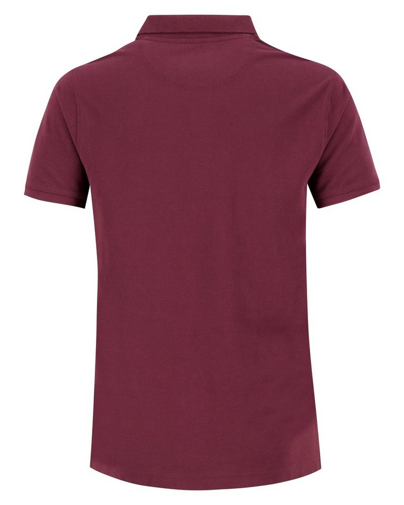 Old Khaki Men's Hilton Relaxed Fit Golfer Shirt -  burgundy