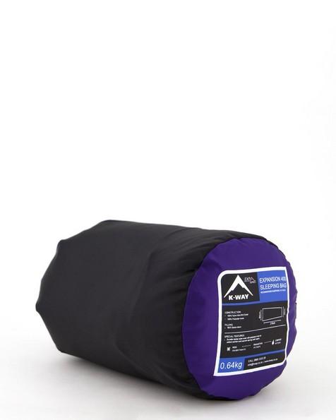 K-Way Expansion 400 Sleeping Bag -  blue