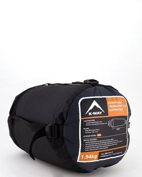 K-Way Kilimanjaro Thermashift 3XL Sleeping Bag -  charcoal
