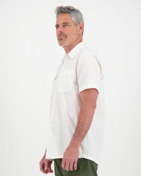 K-Way Men's Elements Safari Lightweight Short Sleeve  -  white