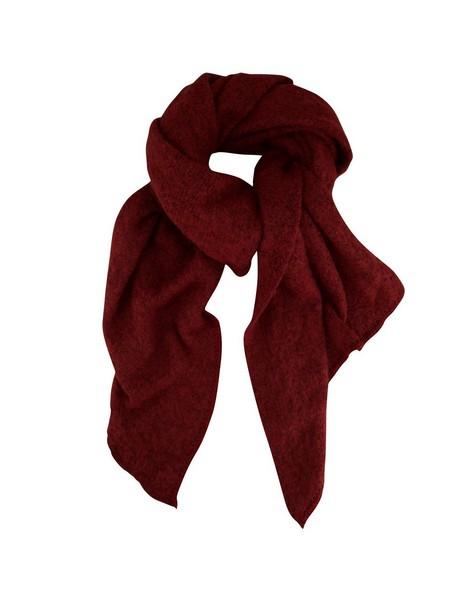 C Adley Warm Handle Scarf -  burgundy