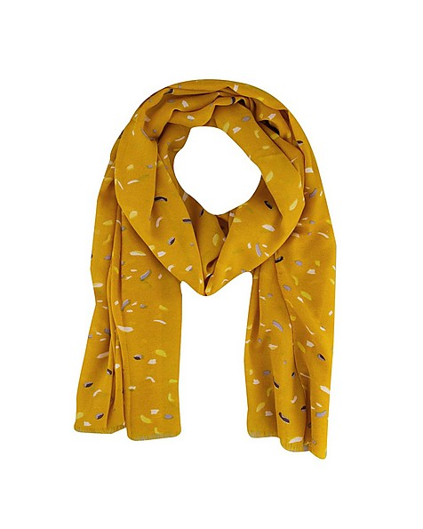 C Miah Abstract Scarf -  yellow