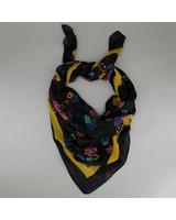 C Sloane Floral Scarf -  black