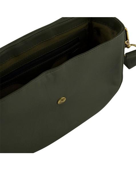Old Khaki Tundra Leather Saddle Bag -  green