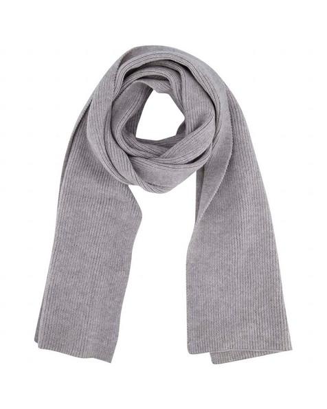 Silke Ribbed Scarf -  grey