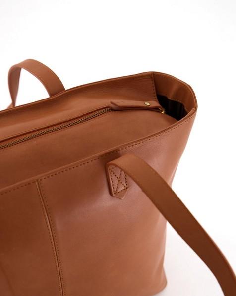 Old Khaki Women's Louise Leather Shopper -  tan