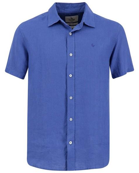 Old Khaki Men's Laz Linen Slim Fit Shirt -  blue