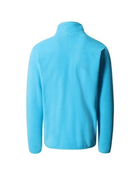 North Face Men's 100 Glacier ¼ Zip Fleece -  blue