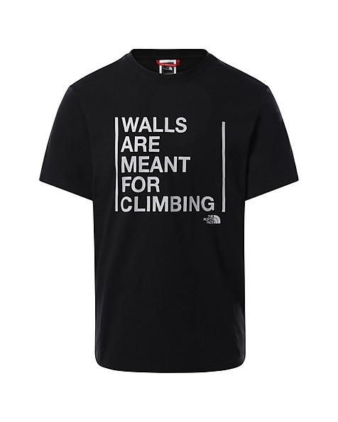 The North Face Men's 'Walls are Meant for Climbing' T-Shirt -  black