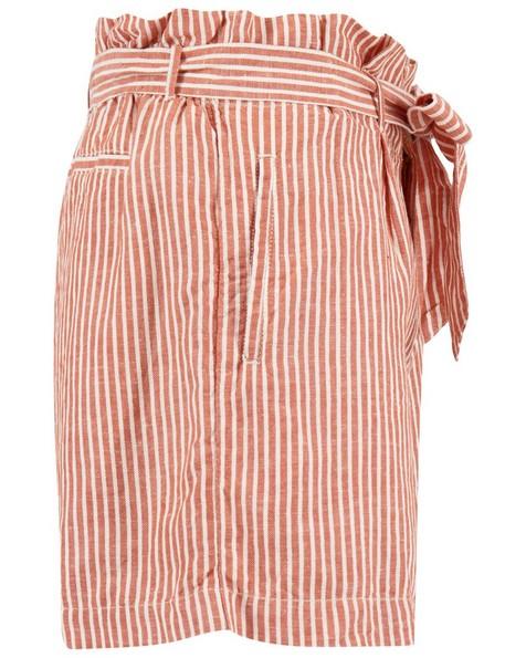 Old Khaki Women's Adela Striped Linen Shorts -  rust