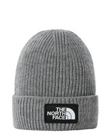 The North Face TNF Logo Box Cuffed Beanie -  grey