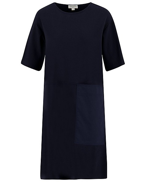 Rare Earth Frida Knit Dress -  navy