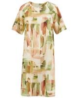 Rare Earth Eden Printed Dress -  peach
