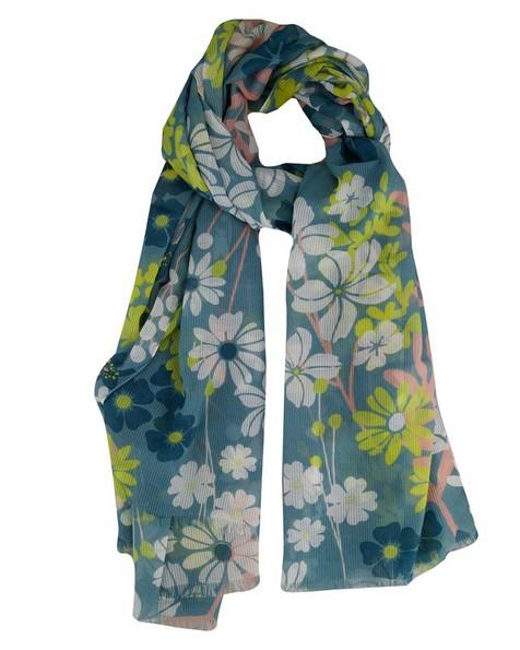 Old Khaki Women's Lydia Foliage Trellis Scarf -  blue
