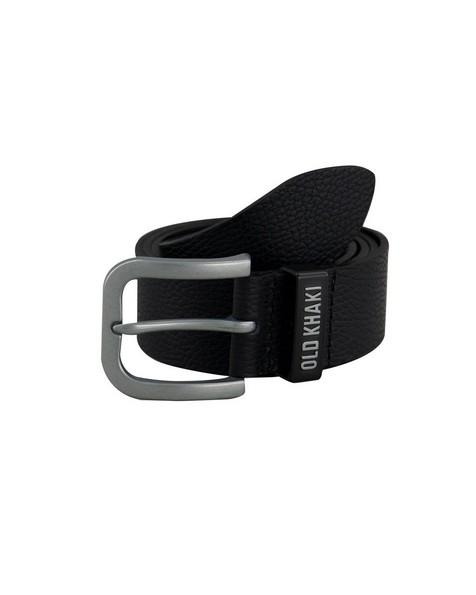 Old Khaki Men's Zach Pebbled Branded Belt -  black
