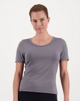 K-Way Pulse Women's Tech Short-Sleeve Tee  -  charcoal
