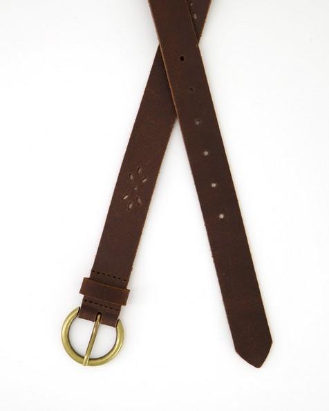Cape Union Women's Libby Cutout Detail Leather Belt -  brown