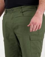 K-Way Elements Men's Safari Cargo Shorts Extended Size Range -  darkolive