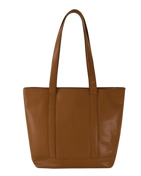Cape Union Mart Women's Taya Banded Leather Shopper -  tan