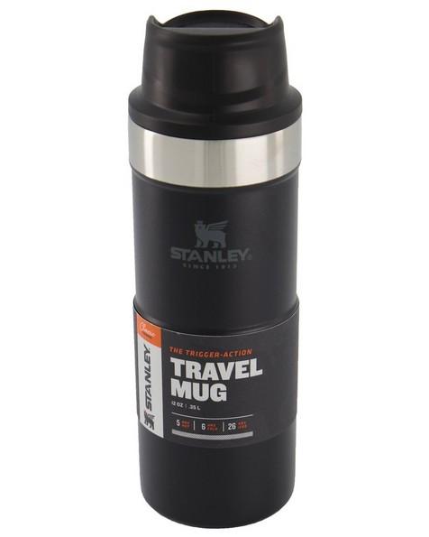 Stanley 0.35L Classic Trigger Action Mug -  black