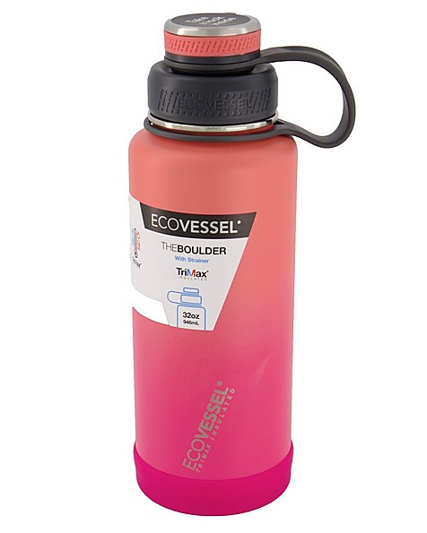 Ecovessel Boulder 32oz (946ml) Bottle -  coral
