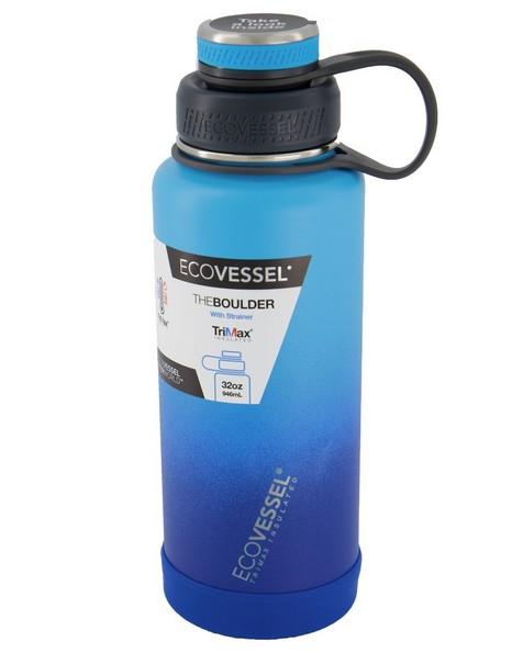 Ecovessel Boulder 32oz (946ml) Bottle -  aqua