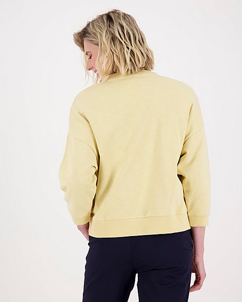 Rare Earth Belle Sweat Top -  yellow