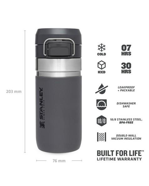 Stanley Vacuum Hydration Quick Flip Bottle 470ml -  charcoal