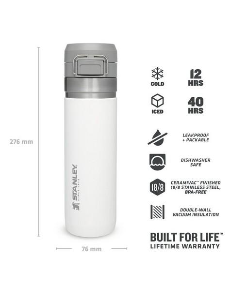 Stanley Vacuum Hydration Quick Flip Bottle 700ml -  white