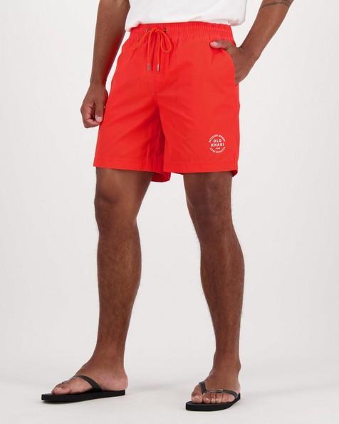 Old Khaki Men's Bash Swim Short -  red