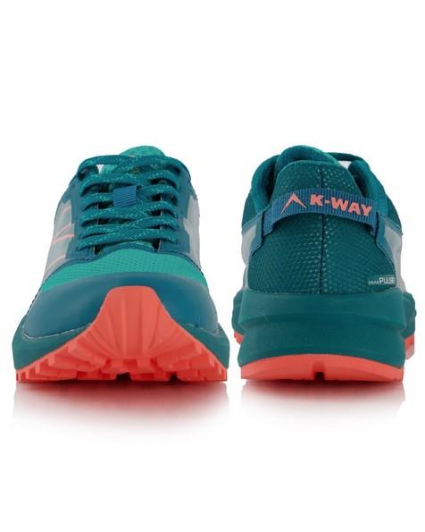 K-Way Women's Pulse Trail Running Shoe -  teal