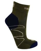 Salomon Men's Crossover Outdoor Sock -  olive