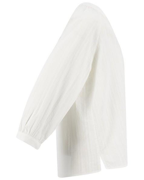 Rare Earth Women's Julene Self Stripe Woven Top -  white