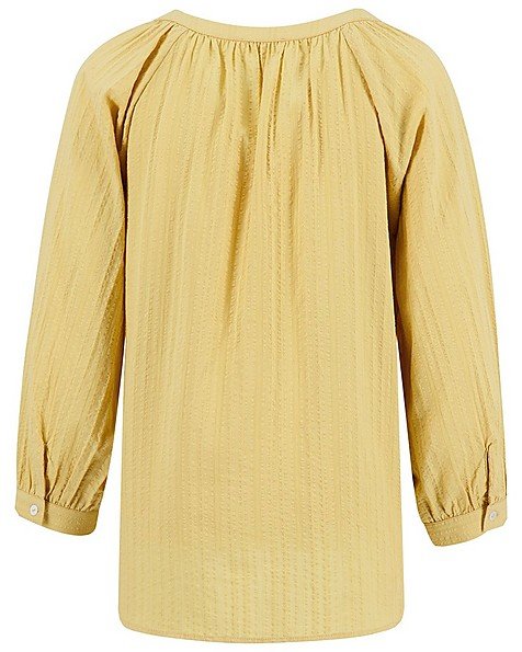Rare Earth Women's Julene Self Stripe Woven Top -  yellow
