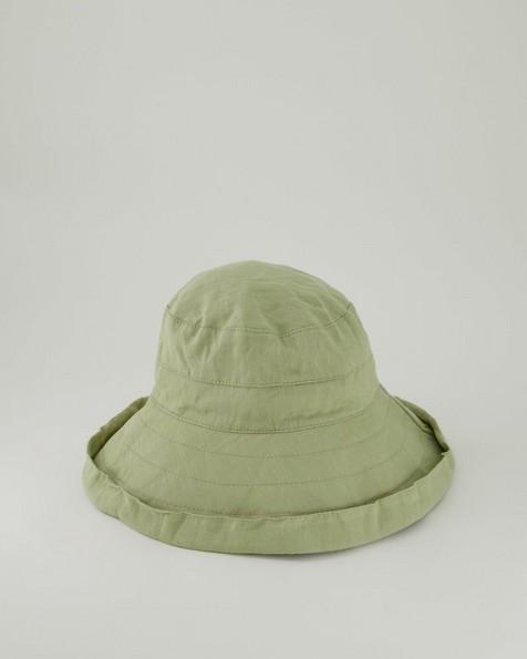 Rare Earth Juliana Linen Look Floppy Hat -  palegreen