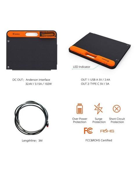 Jackery SolarSaga 100W Solar Panel -  black