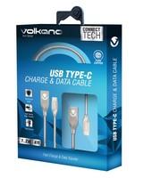Volkano Iron Series Cable -  silver